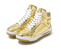 Gold Tennis Shoes | Chellie Campbell