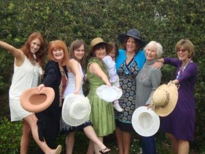 Family - All the girls in hats 2010