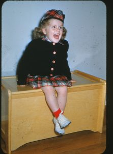 Wearing my happy face at age 3