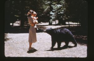 Mom, me and the bear: sometimes fear is a good thing!
