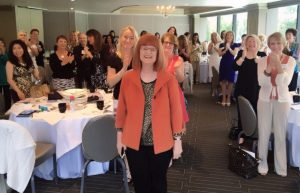"Standing ovation of ""My People"" at eWomen Network Orange County speech"