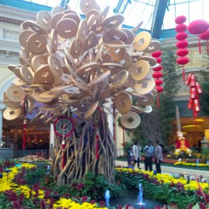 Chinese Money Tree at Bellagio Hotel in Las Vegas