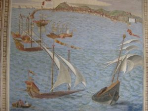 Ships fresco in the Vatican