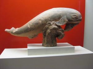Ancient dolphin from the Etruscan museum in Rome