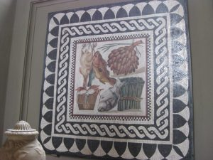 Food mosaic ancient Rome in Vatican
